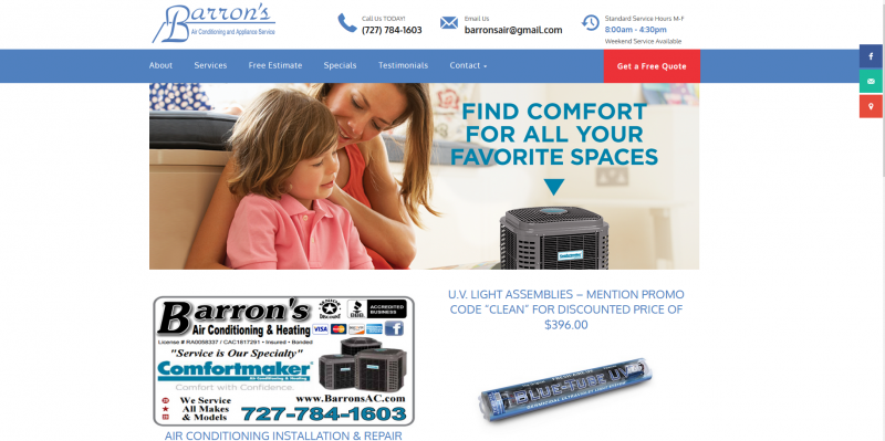 Barron's Air Conditioning and Appliance Service