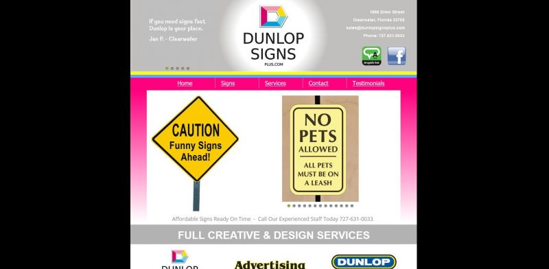 Dunlop Signs, Flags, & Banners