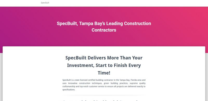 Specialty Builders & Developers LLC